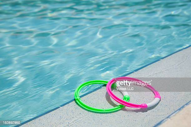USA, Florida, St. Petersburg, two rings on poolside