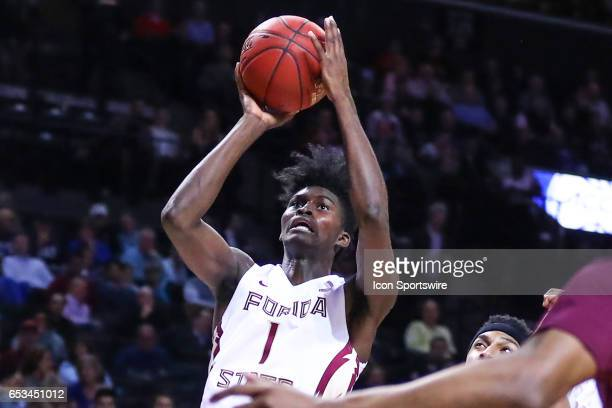 Florida State Seminoles forward Jonathan Isaac during the first half of the 2017 New York Life ACC Tournament Quarterfinal round game between the...