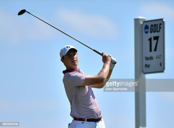 Florida State Seminoles Harry Ellis plays the ball from the 17th tee during round four of the 2017 Division I Men's Golf Championships on May 29 2017...
