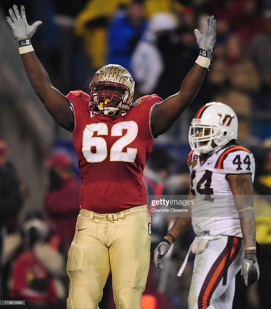 Florida State s Rodney Hudson celebrates a touchdown run by