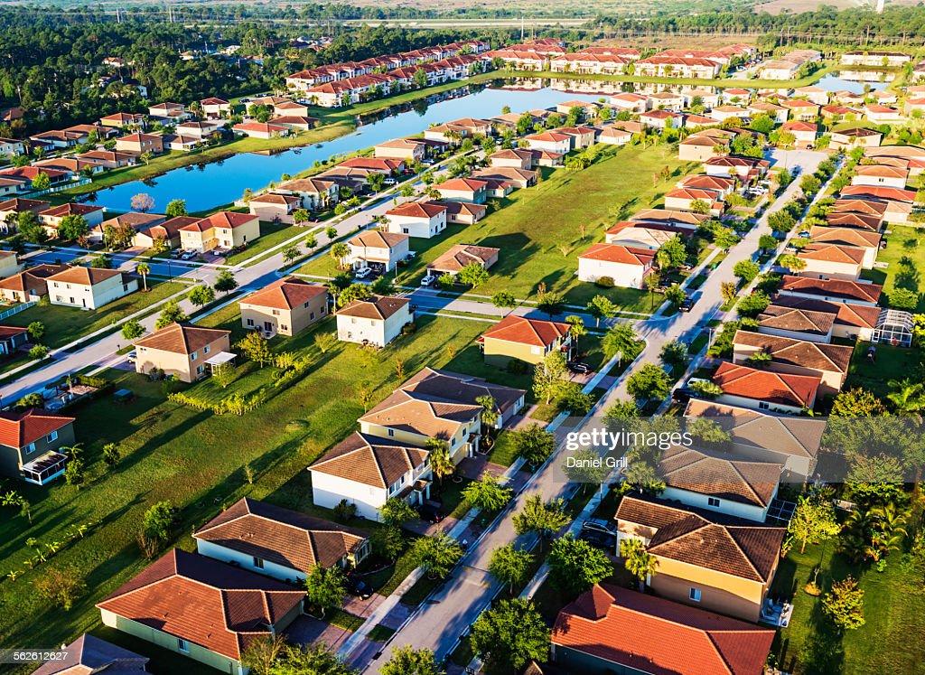 USA, Florida, Stuart, Aerial view of suburbs
