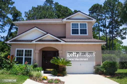 A Florida stucco house in a beach community