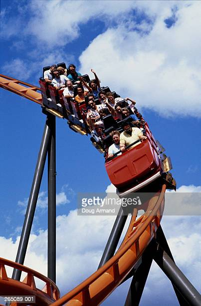 USA, Florida, Tampa, Busch Gardens, 'Scorpion' rollercoaster ride