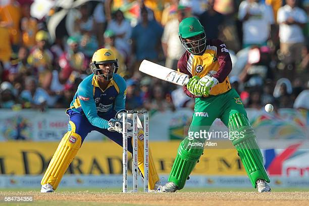 Florida United States 30 July 2016 Jason Mohammed of Guyana Amazon Warriors en route to 57 not out during the Hero Caribbean Premier League Match 28...