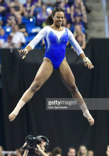 Florida's Kennedy Baker performs her floor exercise routine during the finals of the NCAA Women's Gymnastics National Championship on April 15 at...
