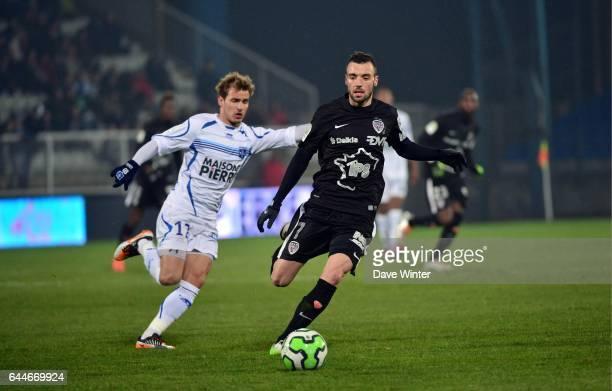 Florin BERENGUER Auxerre / Dijon 30eme journee de Ligue2 Photo Dave Winter / Icon Sport