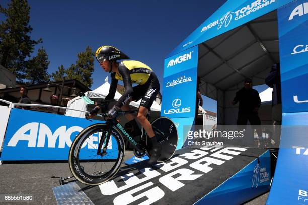 Floris De Tier of Belgium riding for Team Lotto NLJumbo rides during stage five of the AMGEN Tour of California from Ontario to Mt Baldy on May 18...