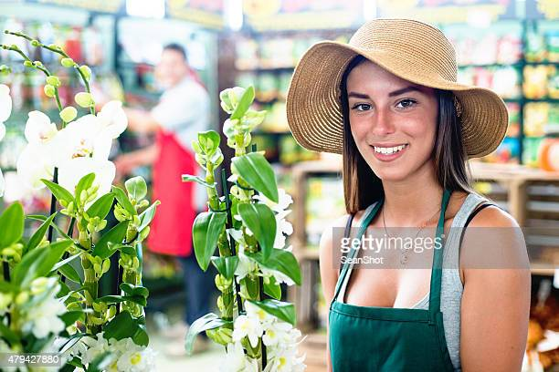 Florist in a Flower Shop