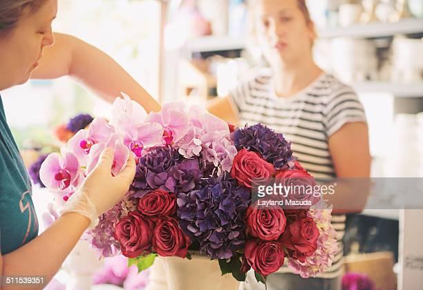 Florist workshop in action