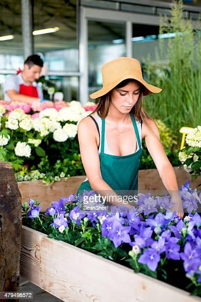 Florists in a Flower Shop