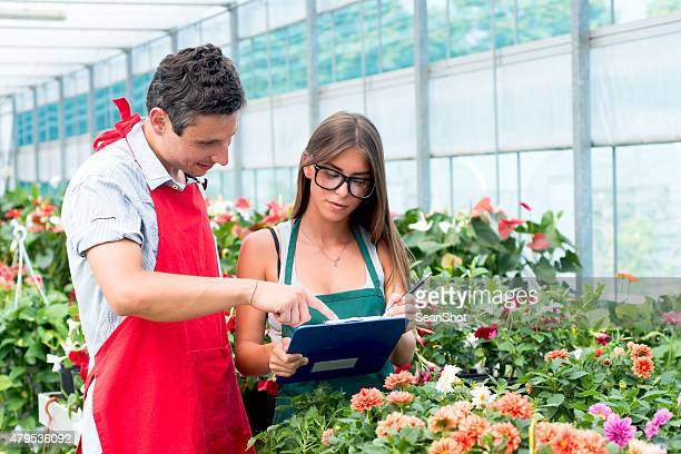 Florists Working in Them Store
