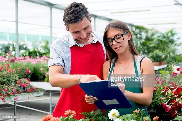 Floristen Arbeit in diese Store