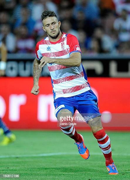 Floro Flores of Granada in action during the La Liga match between Granada CF and Sevilla FC at Estadio Nuevo Los Carmenes on August 26 2012 in...