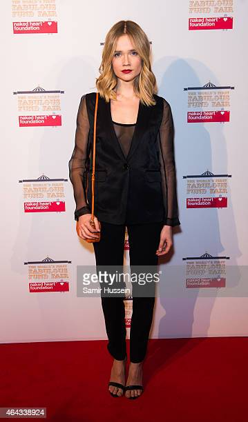 Florrie attends The World's First Fabulous Fund Fair in aid of The Naked Heart Foundation at The Roundhouse on February 24 2015 in London England
