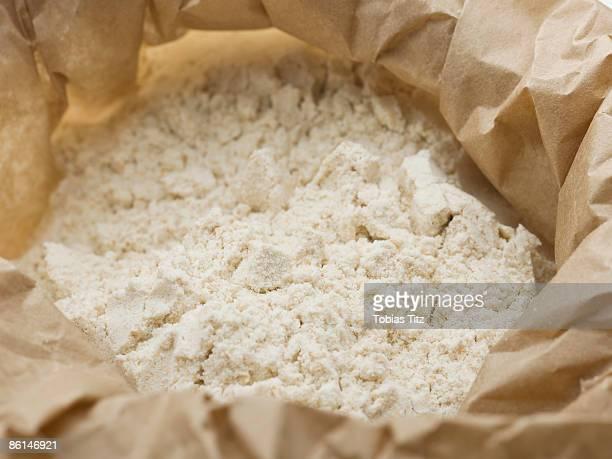 Flour in a paper bag