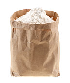 flour in Kraft paper-pack without labels