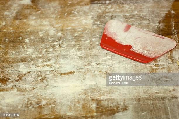 Floured bakers board