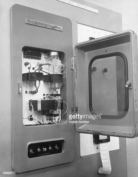 A flouride analyser at the Grove Waterworks in Watford 12th March 1965 The instrument keeps a constant check on fluoride levels in outgoing water