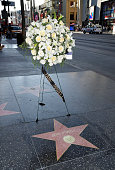 Flowers Placed On The Hollywood Walk Of Fame Star Of...