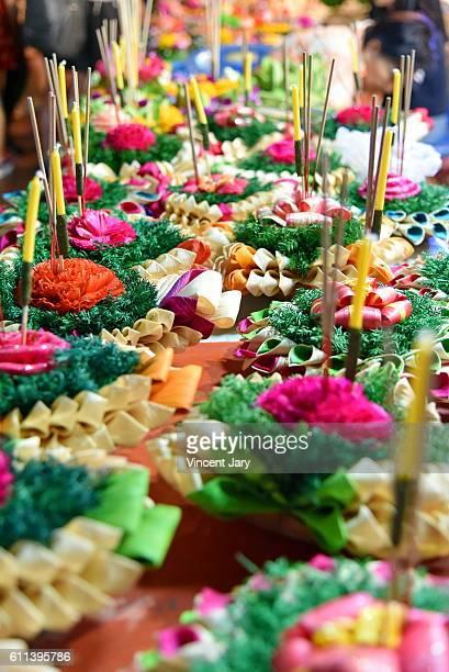 Flower baskets Loy Kratong Bangkok Thailand