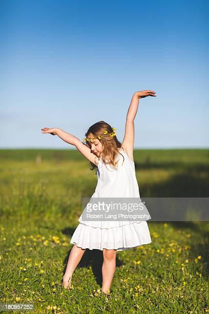 Flower child dancing