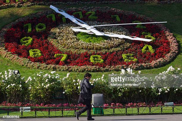 Flower clock of Viña del Mar on May 17 2015 in Viña del Mar Chile Viña del Mar will be one of the eight host cities of the Copa America Chile 2015