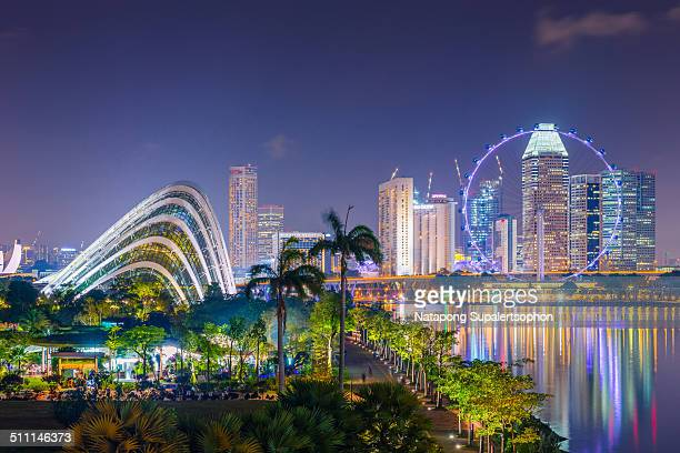 Flower Dome and Singapore Flyer