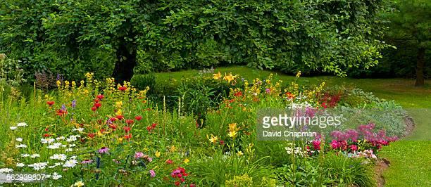 Flower garden, Knowlton, Eastern Townships, Quebec, Canada