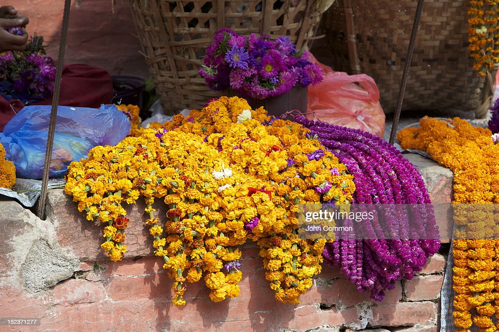 Flower garlands : Stock Photo