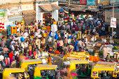 Flower market, K.R. Market, Bangalore, India
