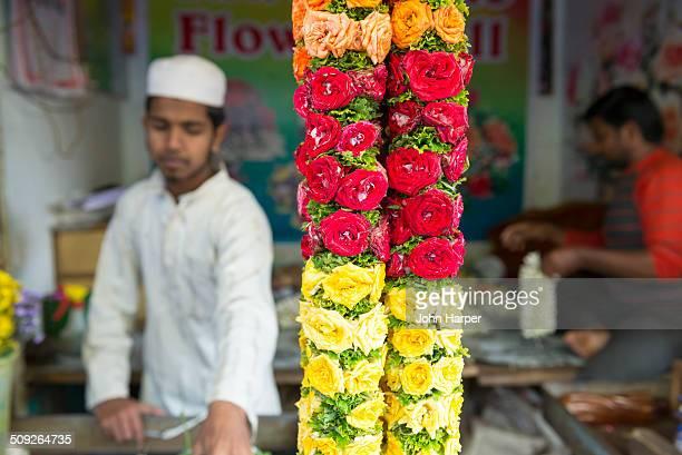 Flower market, Mysore, Karnataka, India