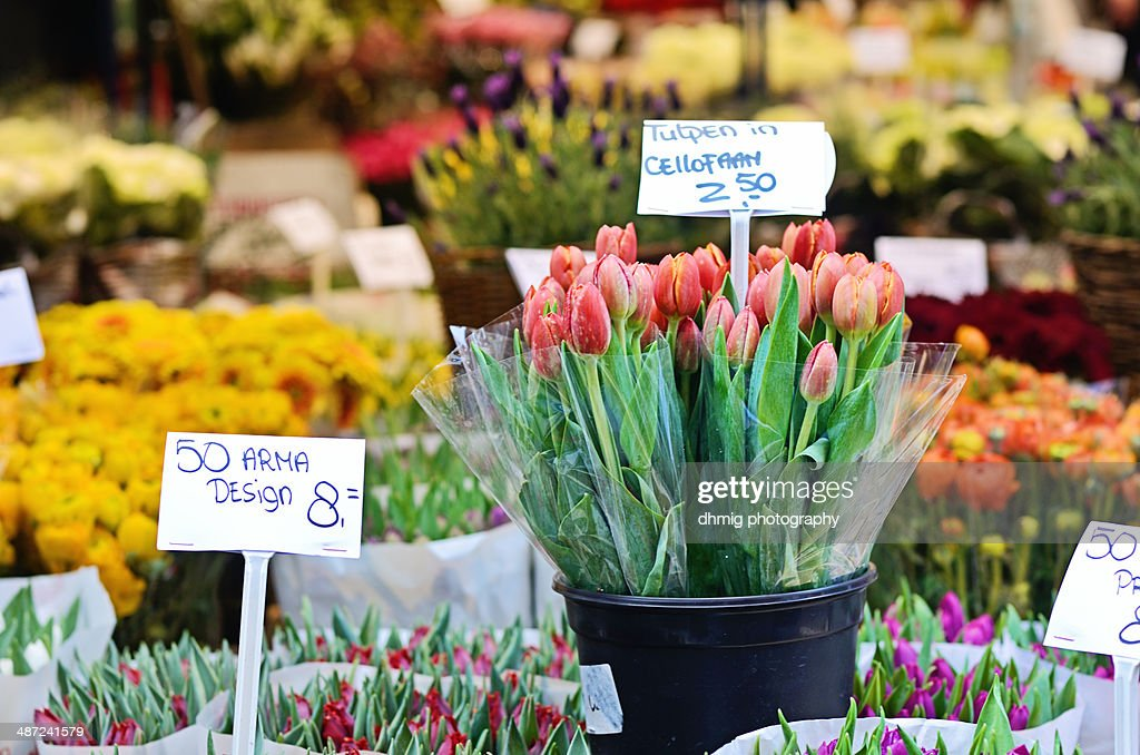 Flower market : Stock Photo