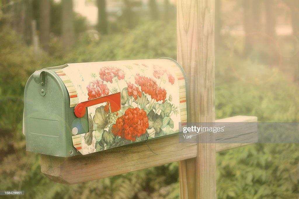 Flower post : Stock Photo