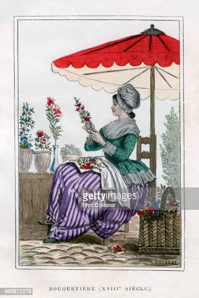 Flower seller 18th century A print from La France et les Français à Travers les Siècles Volume IV F Roy editor A Challamel SaintAntoine 18821884