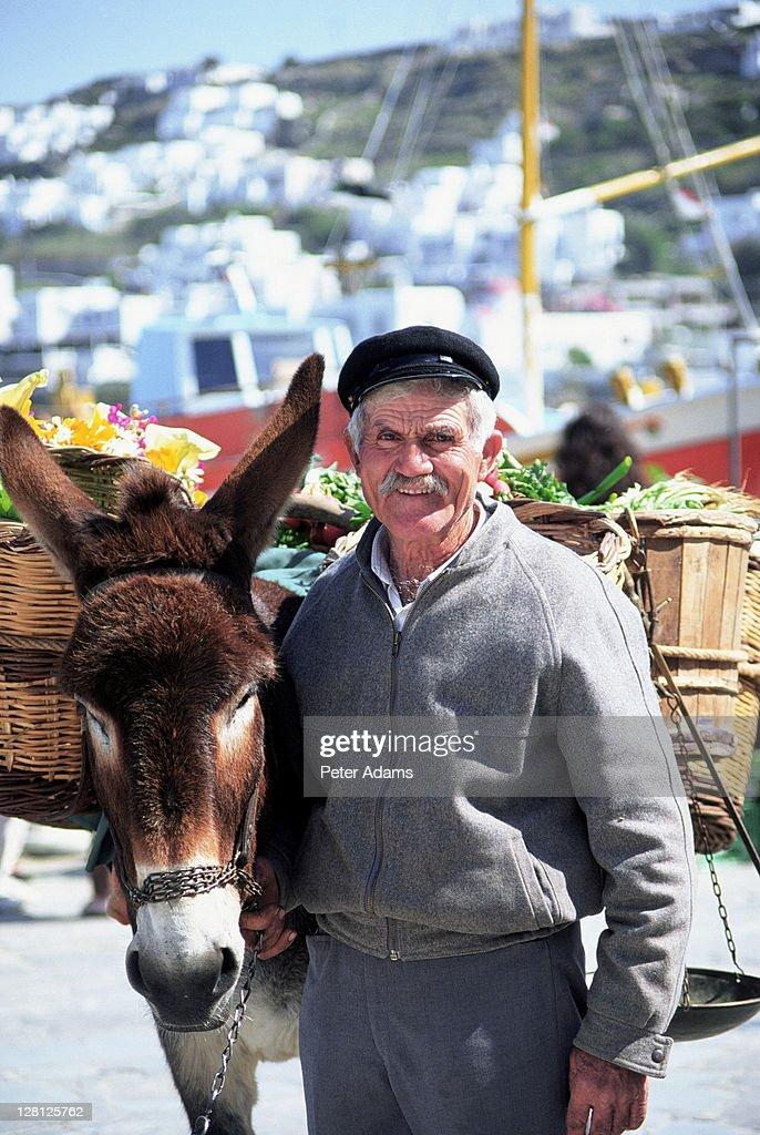 Flower seller, Mykonos, Greece