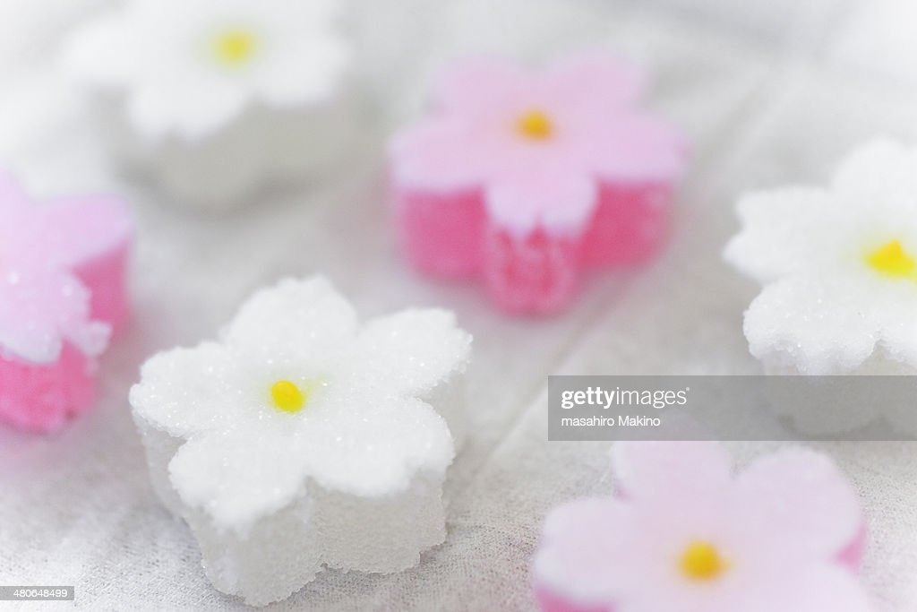 Flower Shaped Japanese Confectionery : Stock Photo