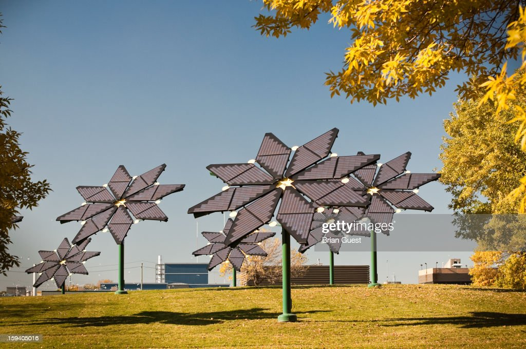 CONTENT] Flower shaped solar panels generate clean electricity at a wastewater treatment plant in Mississauga, Ontario, Canada