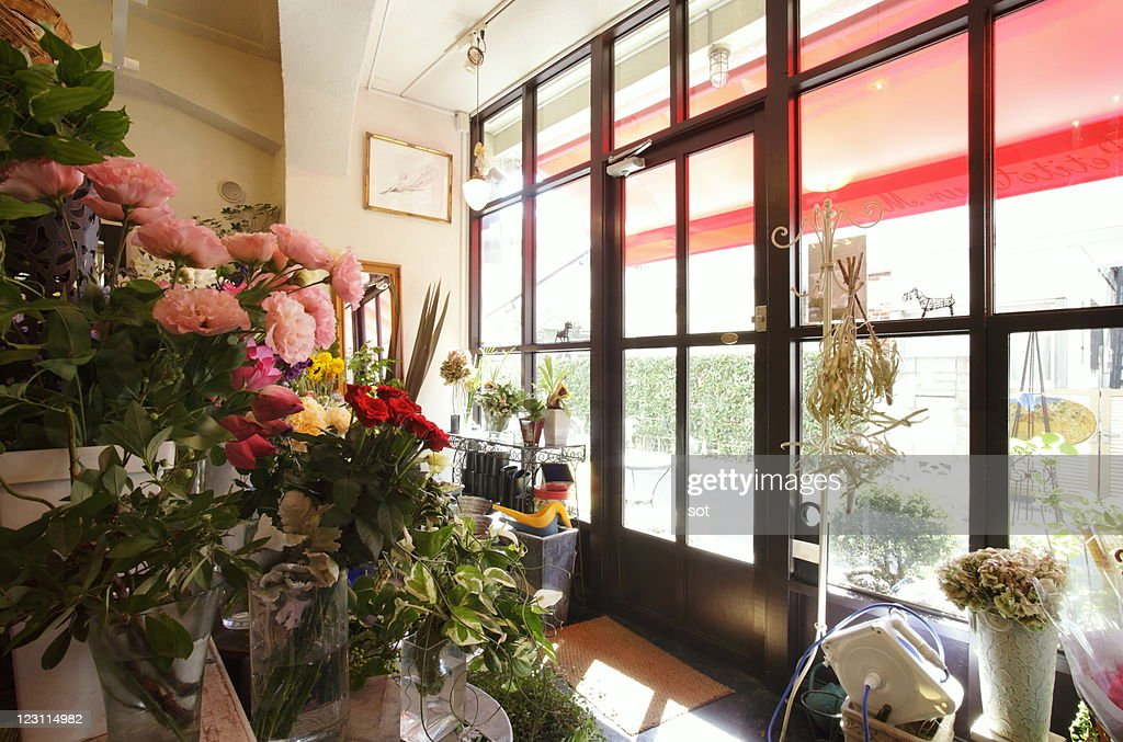 A flower shop : Stockfoto