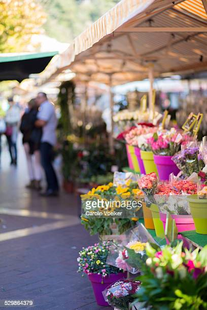 Flower stand at market