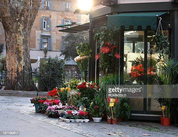 Flower stand in Rome