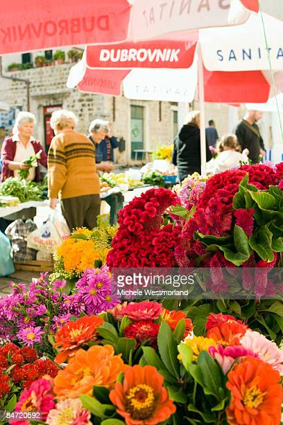 Flower vendors in Dubrovnik, Croatia