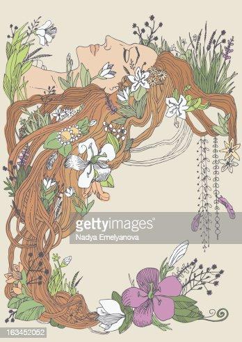 Flower Woman : Stock Photo