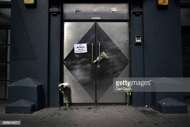 Flowers and a message are left outside Fabric nightclub following the announcement of its closure on September 7 2016 in London England Fabric which...