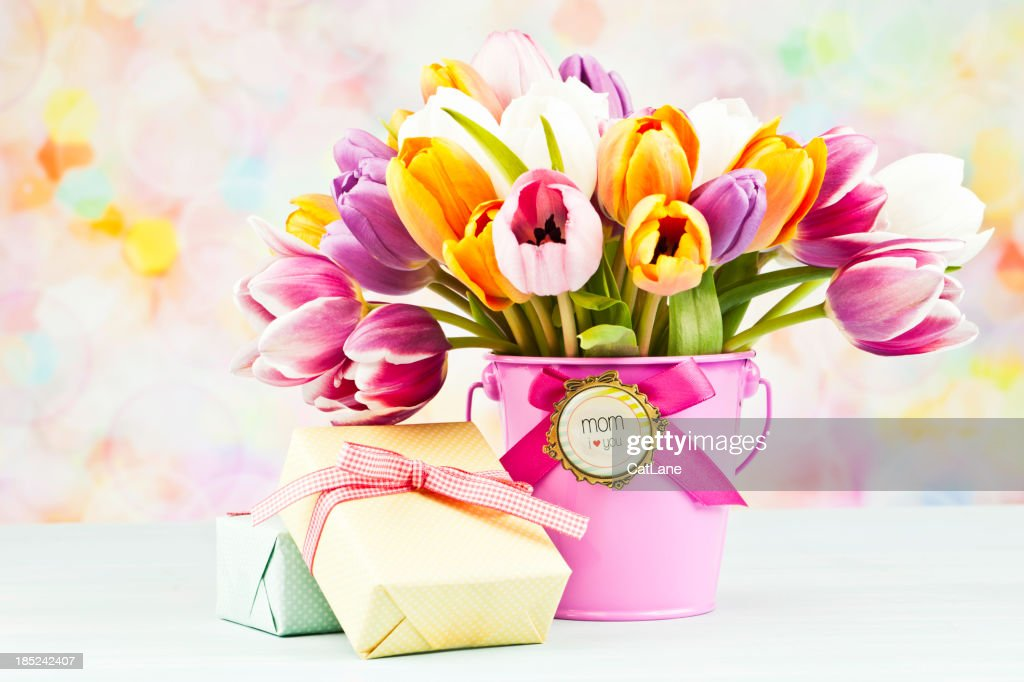Flowers And Gifts For Mothers Day Or Birthday Stock Photo Getty