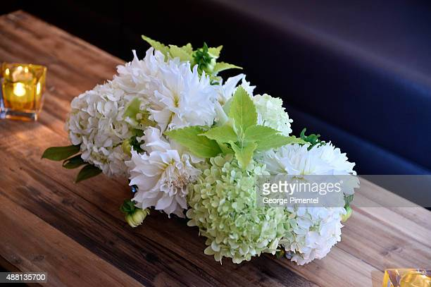 Flowers are displayed at the Vanity Fair toast of 'Freeheld' at TIFF 2015 presented by Hugo Boss and supported by JaegerLeCoultre at Montecito...