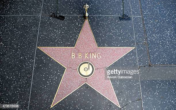 Flowers are placed on the Hollywood Walk of Fame Star Blues legend BB King on May 15 2105 in West Hollywood California King died at his Las Vegas...