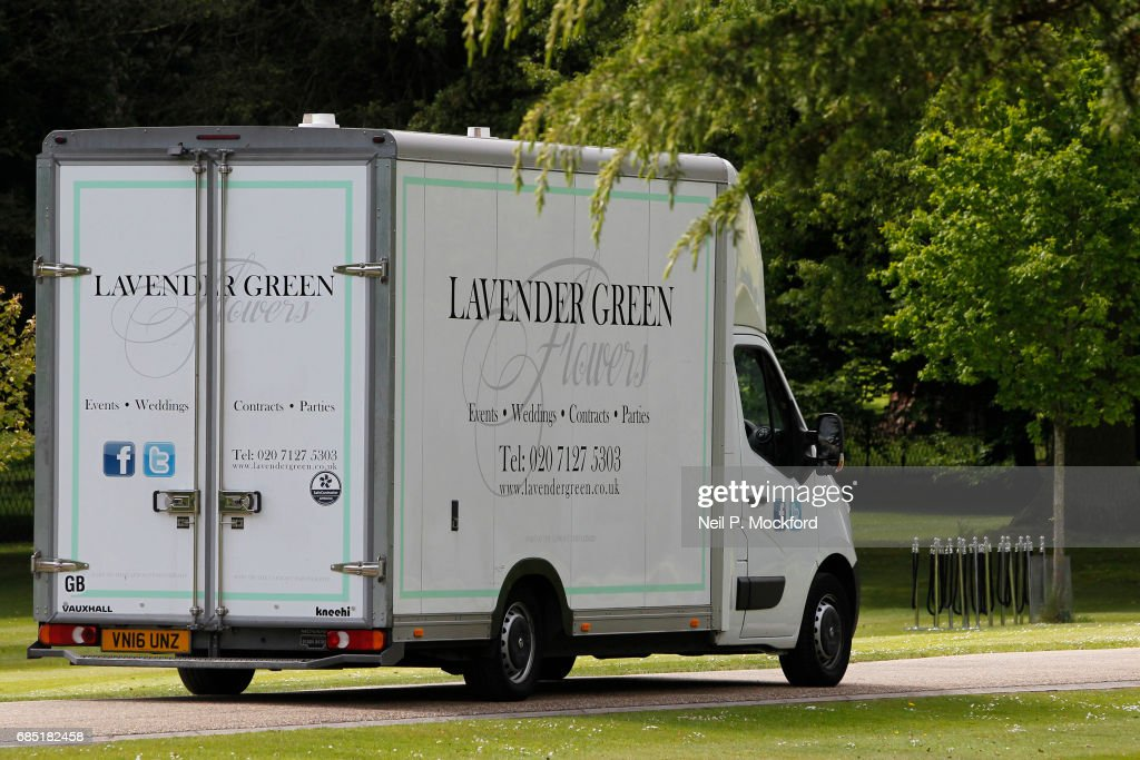 Flowers being delivered to St Mark's Church ahead of the Wedding of Pippa Middleton and James Matthews on May 19, 2017 in Englefield, Berkshire.