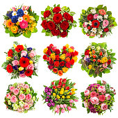 Flowers bouquet for Holidays Birthday, Wedding, Mother's Day, Easter, Valentines Day, Roses, Tulips, Peony