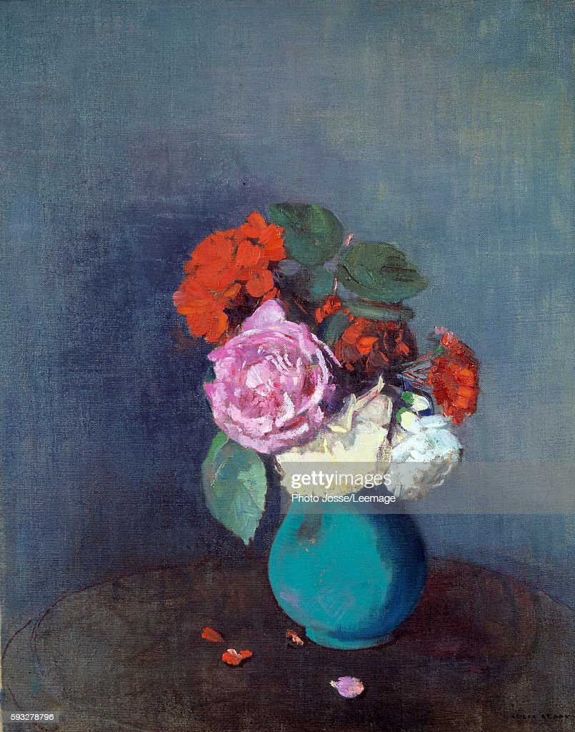 Flowers Bouquet of carnations Painting by Odilon Redon 1900 046 x 038 m Lyon Fine Arts Museum