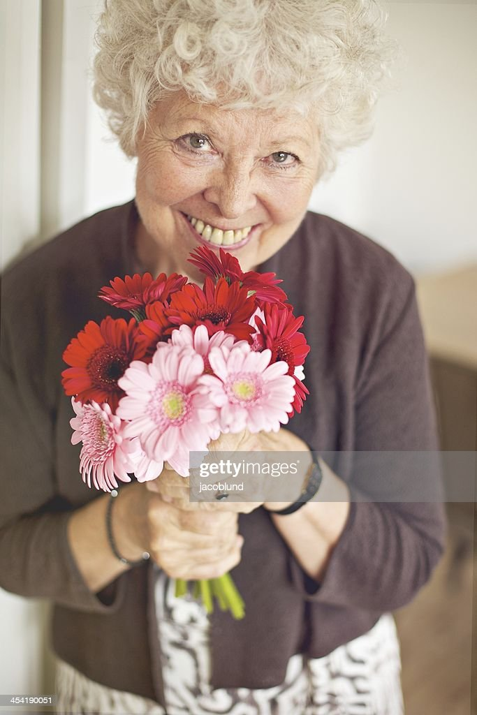 Flowers for a Loving Grandmother on Mother's Day : Stock Photo